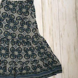 Max Studio Tiered Peplum Skirt